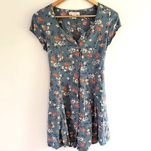 Band of Gypsies blue floral dress XS